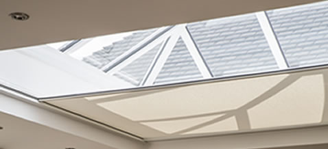Electric Skylight Roof Roller Blinds. London, Cheshire & UK